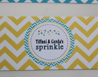 Water Bottle labels - Sprinkle theme