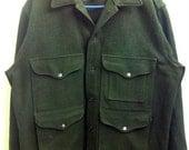 Vintage Filson Men's Field Jacket Size Large Dark Green
