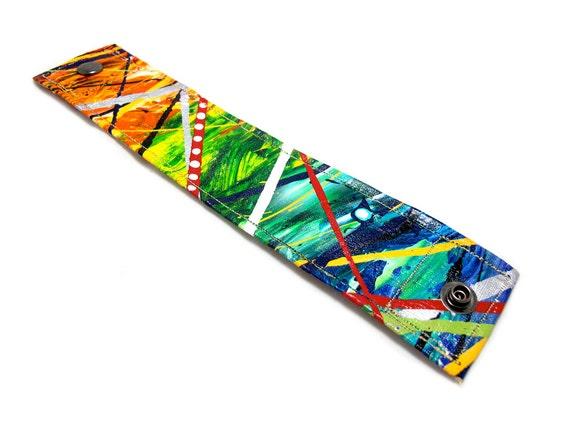 Multi-Colored Cuff Bracelet - Wrap Bracelet - Wrist Band - Boho Cuff Bracelet - Wide Cuff - Wide Bracelet - Hemp Cuff Bracelet - Unique