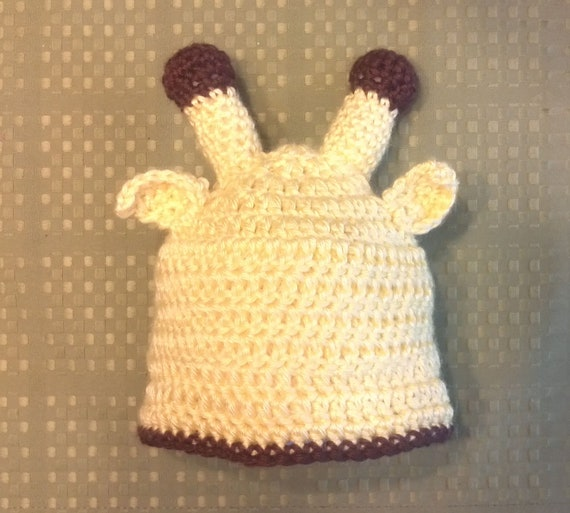 Items similar to Yellow Giraffe Baby Hat (FREE SHIPPING ...