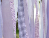 Lilac and Purple Fabric Backdrop Streamers