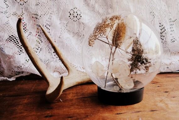 Vintage Glass Curio Display Globe