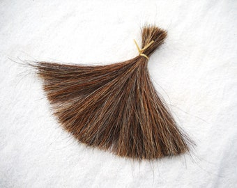 8 inch Real Horse Hair by the ounce Tail Hair Animal Fur Brown