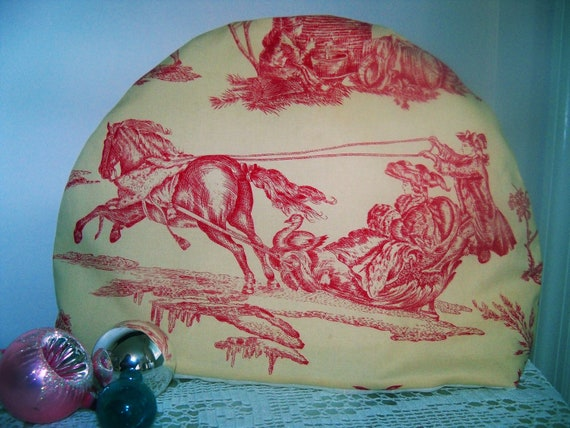 Teapot Cozy Pink / Red Toile Tea Pot Cosy Perfect for Tea Party FREE Gift Wrap / Tea