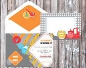 CONSTRUCTION ZONE Party Invitation - Construction Zone Printable Invitation - Under Construction Invitation