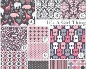 Custom Baby Crib Bedding Set - Fitted Sheet, Custom Bumper, Crib Skirt- It's a Girl Thing