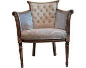 French Modern Rustic Chic Vintage Chair