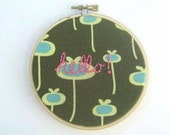 Hello Embroidery Hoop Art - 4 inch