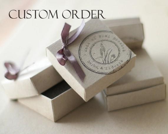 Custom order - Real Juniper Green Cufflinks - Juniperus communis