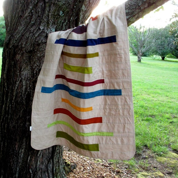 Modern Baby Blanket, Receiving Blanket, Stripes