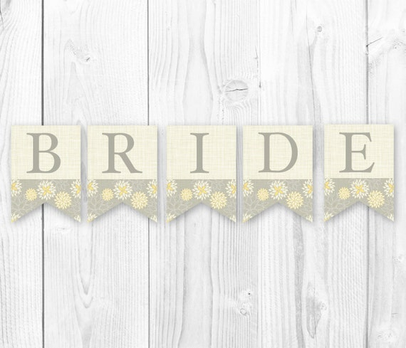 Items similar to Rustic Burlap Banner- Bride to Be Bridal ...
