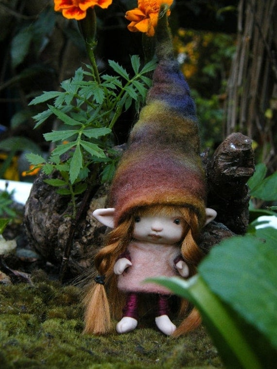sweet tiny anime inspired 3 in posable ooak fairy fairie elf