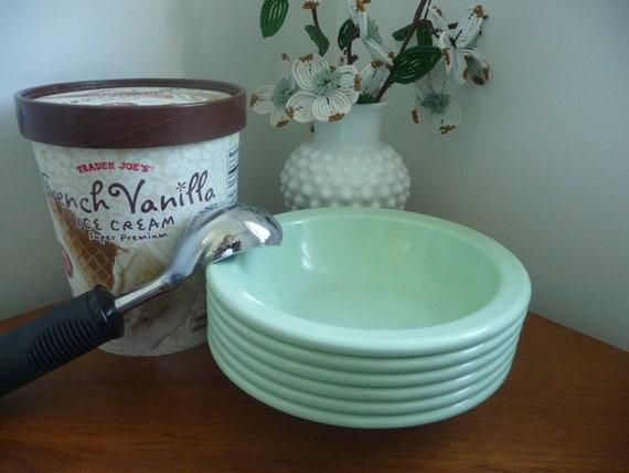 Set of Mint Green Texas Ware Melamine Bowls