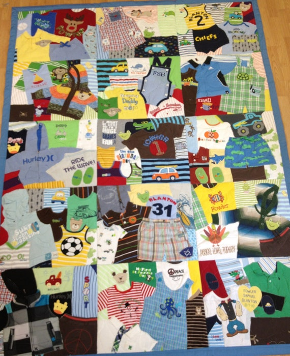 Items Similar To First Year Quilt Custom Made Baby
