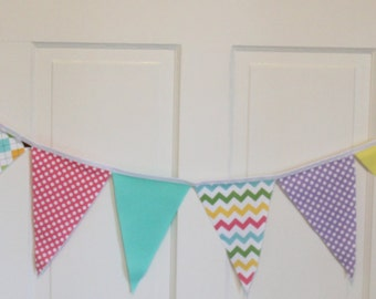 GIRLY CIRCUS Fabric Bunting Pennant Banner