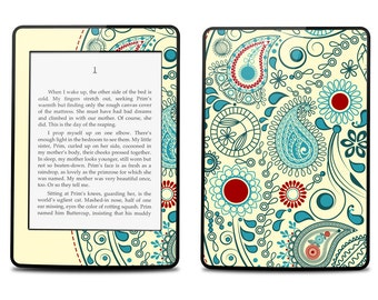 Amazon Kindle Paperwhite Skin Cover - Vintage Paisley - Kindle Cover, Kindle Paperwhite Cover