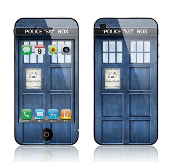 Apple iPhone 4 4S Decal Skin Cover - Police Public Call Box
