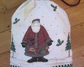 Santa Sack for Presents at Christmas Debbie Mumm fabric