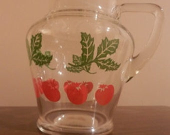 Vintage Glass Juice Pitcher