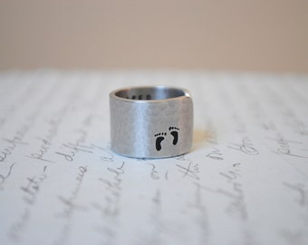 When they Placed You in my Arms...You slipped into my Heart Custom Secret Message Cuff Ring