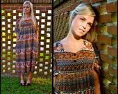 on sale hippie caftan dress small medium