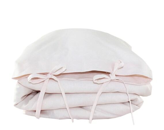 Toddler Bedding set - solid 'tickle pink' linen