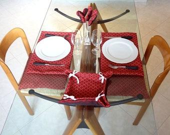 table set - home decor - valentines dinner
