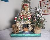 Christmas Fireplace Centerpiece