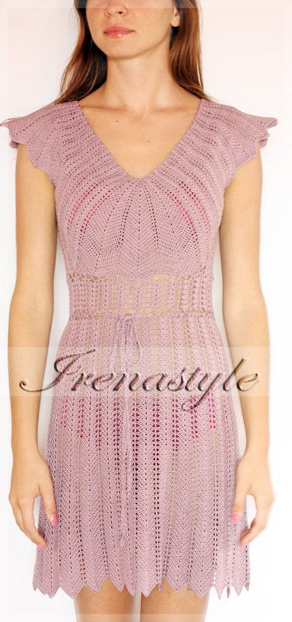 Crochet Dress  custom made, hand made, crochet - 100% cotton