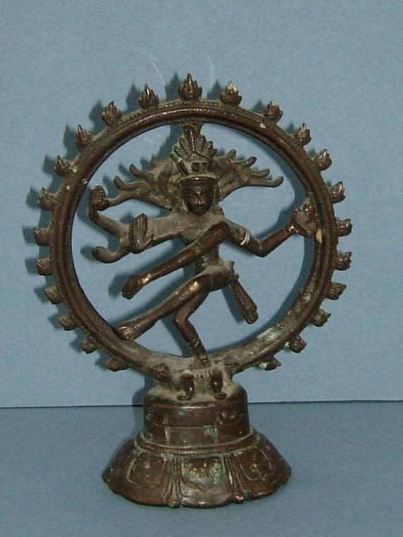 Antique Victorian Bronze Figurine of the Hindu God Nataraj Shiva Lord of the Dance