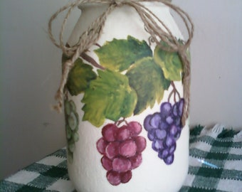 Hand Painted Candle Jar