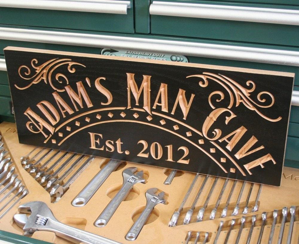 personalized man cave sign. Black Bedroom Furniture Sets. Home Design Ideas