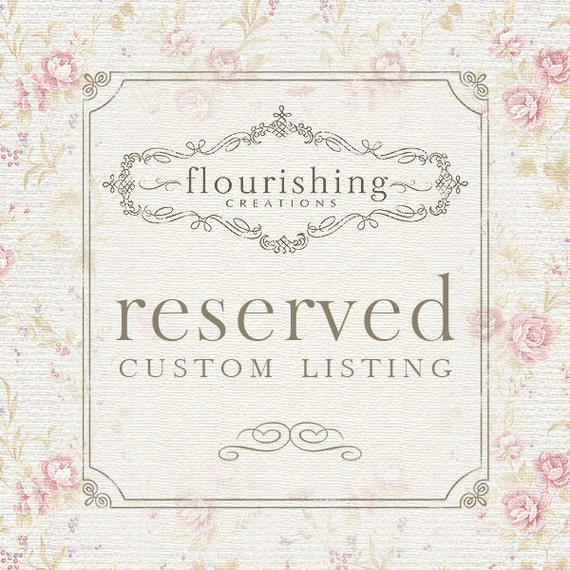 RESERVED LISTING for Rebecca, First Class to FRANCE