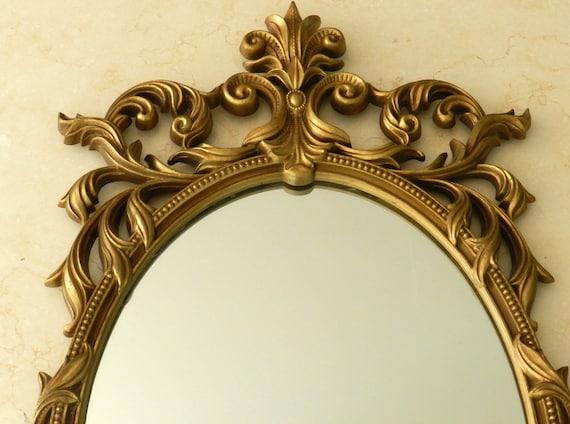 Vintage Gold Mirror Large Hanging Ornate Decorative Turner