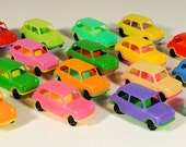 Lot With 24 Vintage Plastic Mini Coopers By Grisoni For PEZ