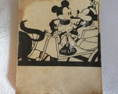 Tiny very old Mickey Minnie Mouse kissing/ progressive comic book