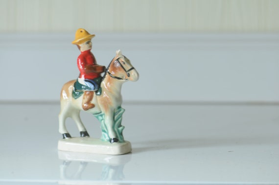 Vintage Salt And Pepper Shakers Ceramic Horse And Rider Salt And Pepper Shaker