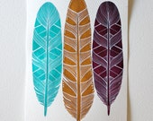 Feather Art Print - Watercolor Art - Paloma Feathers
