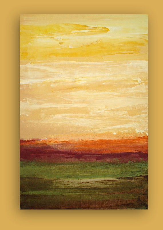 """Art,Painting, Abstract Acrylic Painting on Gallery Canvas Titled: EARTHY MOSS 24x36x1.5"""" by Ora Birenbaum"""