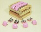 50 pcs - Pink Pyramid  Studs For Leather Craft - KIV.28