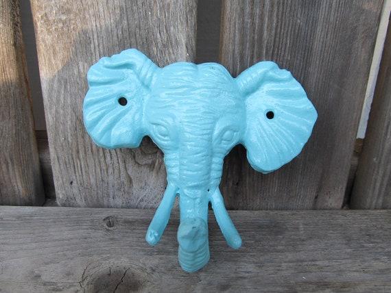 Shabby Chic Cast Iron Elephant Coat Hook