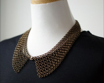 Bronze color necklace  Vintage style.. high quality chain and materials