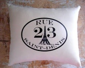 French Country Pillow, Paris Decor, Cottage Decor, French Country Home, Home Decor