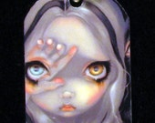 Jasmine Becket-Griffith Art Dogtag Necklace Divine Hand and Speak No Evil