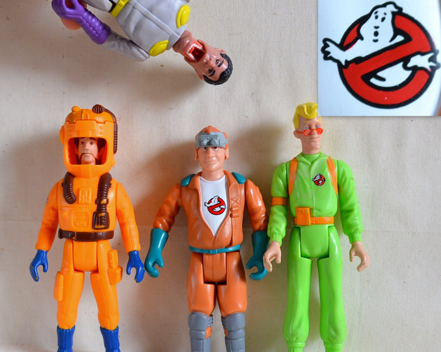 Vintage Ghostbusters Toy Lot 4 Figures 80 S Movie