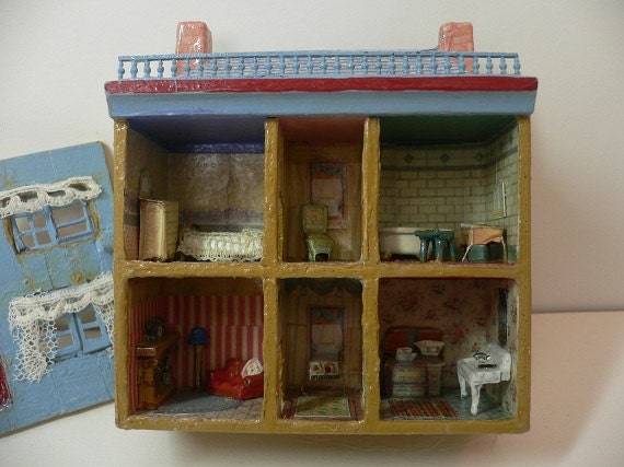 Tiny Miniature House Decorated