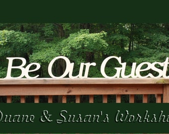 Wooden Be Our Guest Sign, Wall hanging,bed and breakfast, beach decor, wooden letters, home decor, Housewares, Wall Decor