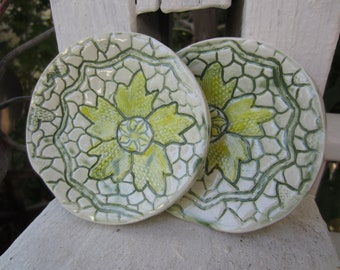 Set of Two Flowers & Lace Dishes