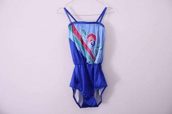 Gorgeous 80s Lyrca Swimsuit Bodysuit / Leotard