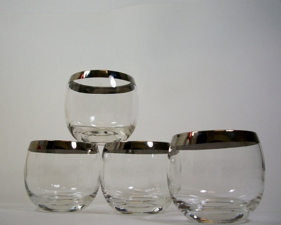 Dorothy Thorpe style Roly Poly Glasses- set of 4